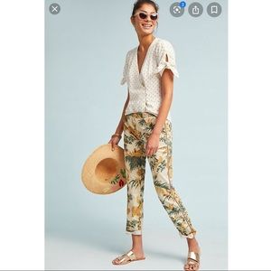 Chino by Anthropologie Relaxed Floral Pants